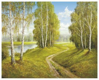 Romantic Pathway-Helmut Glassl-Art Print