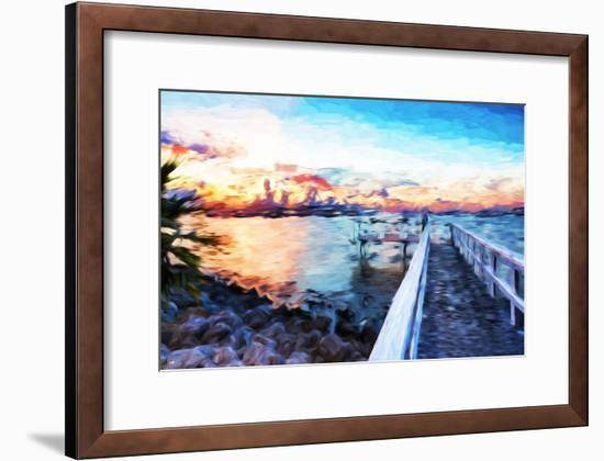 Romantic Pontoon IV - In the Style of Oil Painting-Philippe Hugonnard-Framed Giclee Print
