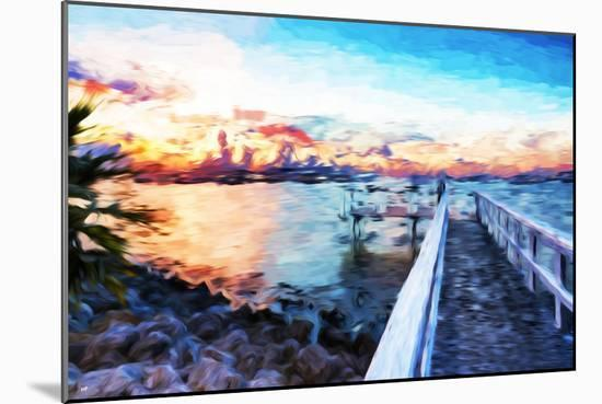 Romantic Pontoon IV - In the Style of Oil Painting-Philippe Hugonnard-Mounted Giclee Print