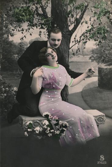'Romantic postcard', c1910-Unknown-Photographic Print
