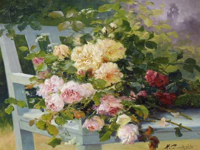 Romantic Roses-Eugene Henri Cauchois-Giclee Print