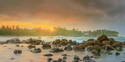 Romantic Untouched Tropical Beach on Sunset, Sri Lanka-Hanna Slavinska-Photographic Print