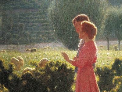 Romantic Walk, 1901-1902-Giuseppe Pellizza da Volpedo-Giclee Print