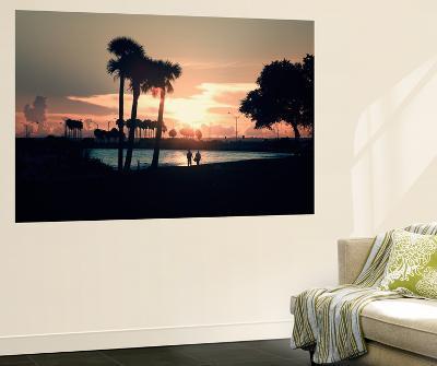 Romantic Walk along the Ocean at Sunset-Philippe Hugonnard-Wall Mural