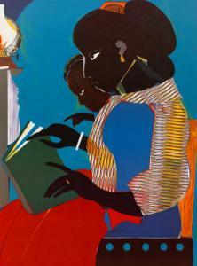 Lamp-Brown V by Romare Bearden