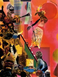 The Blues by Romare Bearden