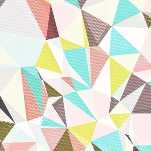 Abstract Background with Triangles and Colorful Geometric Shapes. Texture Pattern for Covers, Banne by Romas_Photo