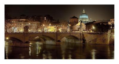 Rome at night-Vadim Ratsenskiy-Art Print