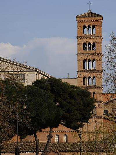 Rome, Basilica of Saint Mary in Cosmedin, Bell Tower--Photographic Print