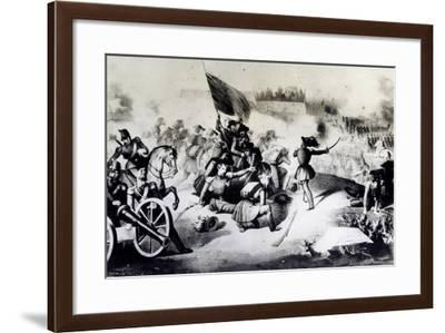 Rome, Combat at Villa Spada Against the French, June 30, 1849, Roman Republic, Italy--Framed Giclee Print