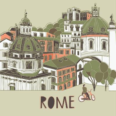 Rome Greeting Card Design-Lavandaart-Art Print