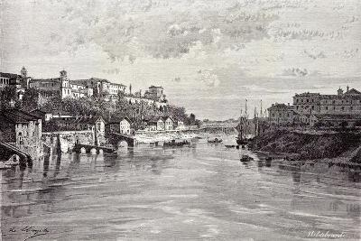 Rome Italy 1875 Aventine Mount and St. Sabina Seen from Ponte Rotto--Giclee Print