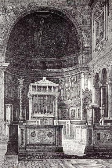 Rome Italy 1875 Interior of St. Clement'S--Giclee Print