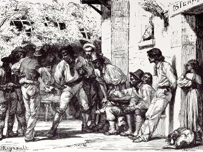 Rome, Italy, 1875, Romans Playing at Mora--Giclee Print