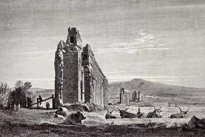 Rome Italy 1875 Ruins of Aqueducts of Claudius Near the Road to Albano--Giclee Print