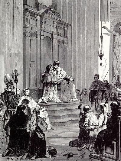 Rome, Italy, 1875 the Grand Penitentiary at St. Peter'S--Giclee Print