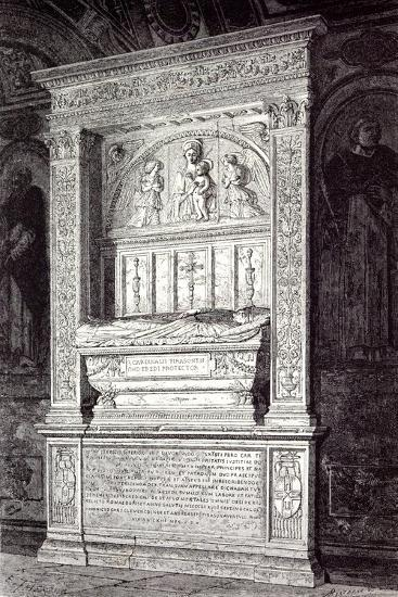 Rome Italy 1875 Tomb of Cardinal Ferrici at the Minerva--Giclee Print