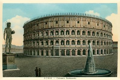 Rome, Italy, Rendering of Restored Coliseum--Art Print