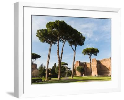 Rome, Italy. Terme di Caracalla, or Baths of Caracalla dating from the 3rd century AD.--Framed Photographic Print