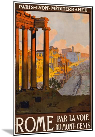 Rome Italy Tourism Travel Vintage Ad Poster Print--Mounted Print
