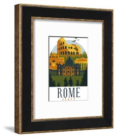 Rome Italy-Wonderful Dream-Framed Art Print