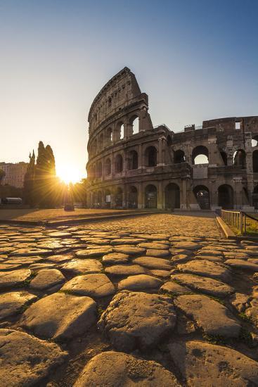 Rome, Lazio, Italy. Colosseum at Summer Sunrise.-Marco Bottigelli-Photographic Print