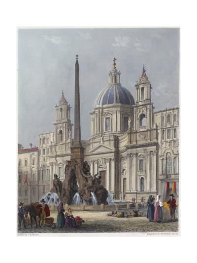 Rome, S'Agnese C1840-G B Moore-Giclee Print