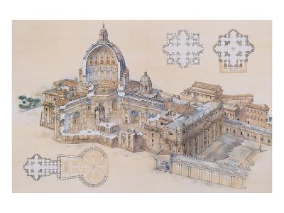 Rome, St. Peter's Basilica-L. Derrien-Art Print