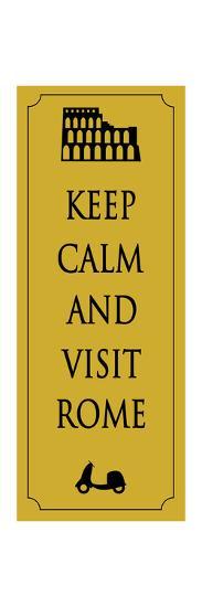 Rome Travel Card.Vector-Ladoga-Art Print
