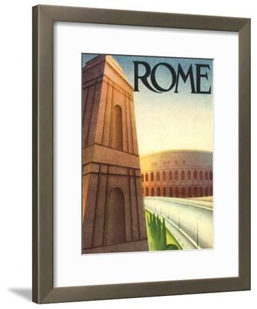 Rome Travel Poster, c.1933
