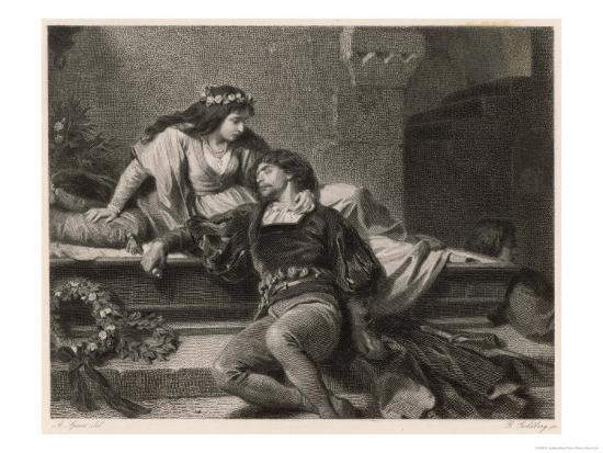 Romeo and Juliet, Act V Scene III: Juliet Wakes in the Vault to Find Romeo Dead-G. Goldberg-Giclee Print