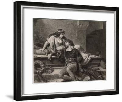 Romeo and Juliet, Act V Scene III: Juliet Wakes in the Vault to Find Romeo Dead-G. Goldberg-Framed Giclee Print