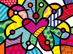 Heart Butterfly by Romero Britto
