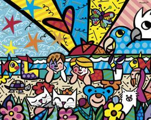 In the Park by Romero Britto