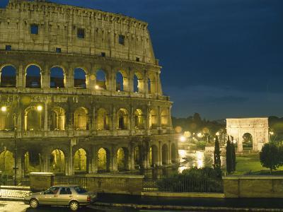 Romes Colosseum Illuminated at Night-Richard Nowitz-Photographic Print