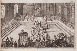 A Scene at the Royal Court of Tsar Alexis Mikhailovich, 1677 by Romeyn De Hooghe