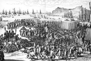 Arrival of William of Orange in England, 5 November 1688 by Romeyn De Hooghe