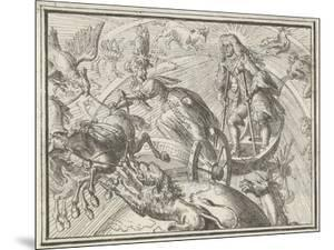 Caricature Depicting Louis XIV as Apollo in His Chariot, 1701 by Romeyn De Hooghe