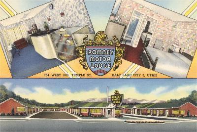 Romney Motor Lodge, Salt Lake City--Art Print