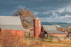 Vintage Red Barn by Romona Murdock