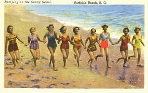 Romping on the Beach, Surfside Beach, South Carolina