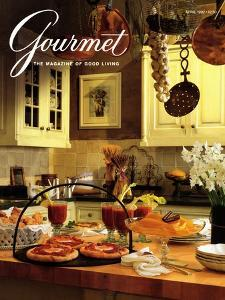 Gourmet Cover - April 1992 by Romulo Yanes