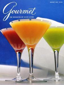 Gourmet Cover - August 1987 by Romulo Yanes