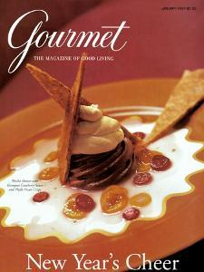 Gourmet Cover - January 1997 by Romulo Yanes
