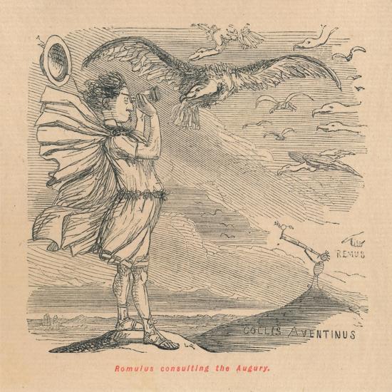 'Romulus consulting the Augury', 1852-John Leech-Giclee Print
