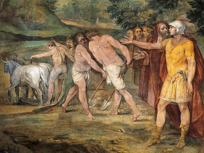 Romulus Marking Limits of Rome-Giuseppe Cesari-Giclee Print