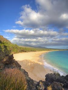 Oneloa Beach in Makena State Park on Maui by Ron Dahlquist