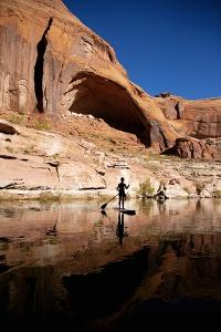 Stand-Up Paddleboarding on Lake Powell, Utah by Ron Dahlquist