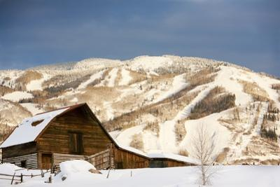 Steamboat Springs Ski Area and Barn, Colorado by Ron Dahlquist