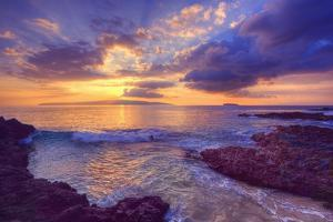 Sunset at Maui Wai or Secret Beach on Maui in Hawaii by Ron Dahlquist